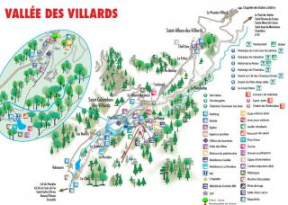 Carte Touristique de la Vallée des Villards